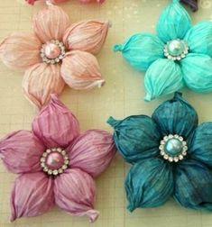 ❤ Gyönyörű pufi tavaszi krepp papír virágok egyszerűen ❤Mindy - kreatív ötletek és dekorációk minden napra
