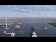 Construcción  Del Nuevo Puente Pumarejo en Barranquilla Colombia (Render...