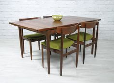 Vintage midcentury kofod larsen table & chairs.http://www.ebay.co.uk/itm/KOFOD-LARSEN-G-PLAN-DANISH-RETRO-VINTAGE-TEAK-MIDCENTURY-DINING-TABLE-50s-60s-/330674243064?pt=UK_Home_Garden_DiningRoomFurniture_SM&hash=item4cfdb885f8