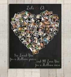 DIY- Memory photo heart collage.