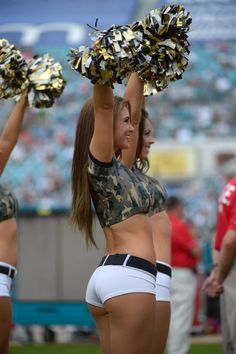 The Jacksonville Jaguars cheerleaders perform during the first half of an NFL football game against the Arizona Cardinals in Jacksonville, Fla., Sunday, Nov. 17, 2013.