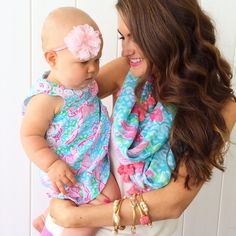 Lilly baby with matching scarf for mommy