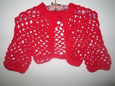 Bolero by SuzannesStitches, Girls Cardigan, Teen Shrug, Girls Sweater, Cropped Sweater, Teen Cardigan, Girls Shrug, Teen Bolero, Red Cardi by SuzannesStitches on Etsy