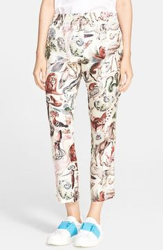 Valentino 'Safari' Print Silk Twill Pants