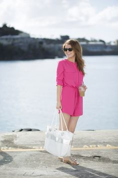 OUTFIT: PINK ROMPER IN ST. THOMAS