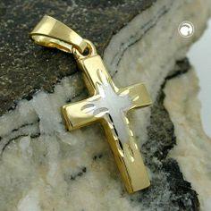 Anhänger, Kreuz bicolor, 9Kt GOLD Dreambase, http://www.amazon.de/dp/B00H2II0LE/ref=cm_sw_r_pi_dp_ouyhtb1E2V0ND