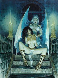 Vamp et Vampire par Jean-Baptiste Andreae - Illustration