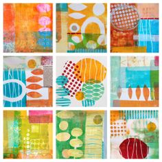 Lucie Par Ici: Monoprint Collage Workshop