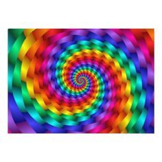 LGBT Rainbow Spirals Magnetic Card - invitations custom unique diy personalize occasions