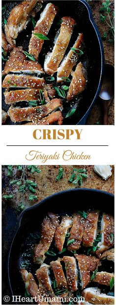 Crispy Teriyaki Chicken. Pan fried to golden crispy with delicious ghee butter. Gluten free. No added sugar. Clean eating. Paleo, Whole30, Keto, and family friendly !