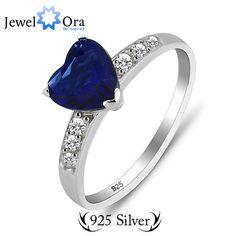 Asli 925 sterling silver hot sale hati cincin fashion jewelry klasik cinta cincin (jewelora ri101188)
