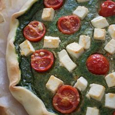 quiche spinaci ricetta Palak Paneer, Vegetable Pizza, Feta, Buffet, Vegetables, Cooking, Ethnic Recipes, Kitchen, Cuisine