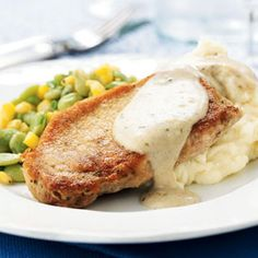 **Pork Chops with Country Gravy**    I just have to say that the Country Gravy in this recipe is so good that I pull this recipe just to make the gravy when I'm making other meals.