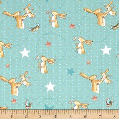 Designed by Sam McBratney and Anita Jeram for Clothworks, this cotton print fabric is perfect for quilting, apparel and home decor accents. Colors include white and shades of red, yellow, orange, teal and brown.