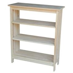 International Concepts Unfinished Mission 3-Shelf Bookcase-SH-3630M at The Home Depot $119 for bedroom?