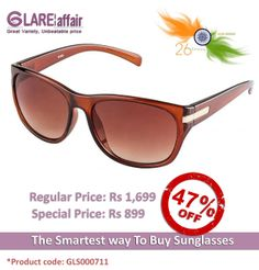 Farenheit Superb FA933 Brown Brown Gradient Sunglasses http://www.glareaffair.com/sunglasses/farenheit-superb-fa933-brown-brown-gradient-sunglasses.html  Brand : Farenheit  Regular Price: Rs1,699 Special Price: Rs899  Discount : Rs800 (47%)