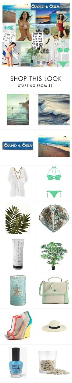 the lonely sea it never stops for you or me it moves from day to day and that's why my love, you'll never stay by mars-phoenix on Polyvore featuring moda, Heidi Klein, Melissa Odabash, Christian Louboutin, Poppie Jones, Madewell, St. Tropez, Forever 21, Pier 1 Imports and WALL