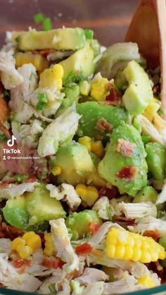 Best Salad Recipes, Diet Recipes, Chicken Recipes, Cooking Recipes, Healthy Recipes, Healthy Salads, Healthy Eating, Kitchen Recipes, Soup And Salad
