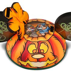 Mickey Mouse Jack O'Lantern Ear Hat