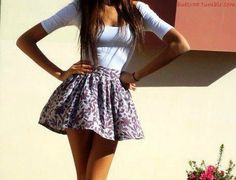 cute high waisted skirt