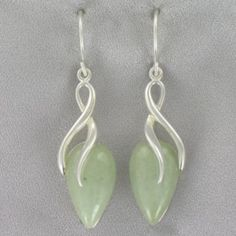 Jade Wire Earrings