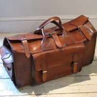 1940s English Flight Bag in Leather