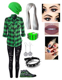 """J.L."" by lyrick-rose on Polyvore featuring Neff, Converse, WithChic, Anastasia Beverly Hills and Fad Treasures"