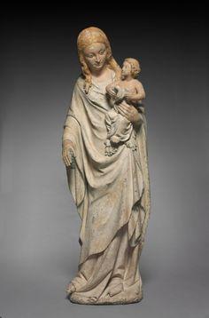 Vierge à l'enfant. 1385-1390. France, vallée de la Loire.   The Cleveland Museum of Art.