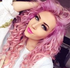 Glamous Ombre Pink ,Gorgeous Beauty .