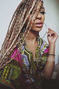 rockin blonde box braids   Ig: cityofreign