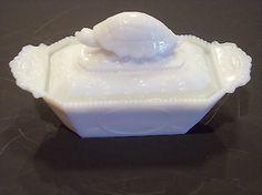 Milk Glass Covered Dish Rare Turtle | old estate Belknap