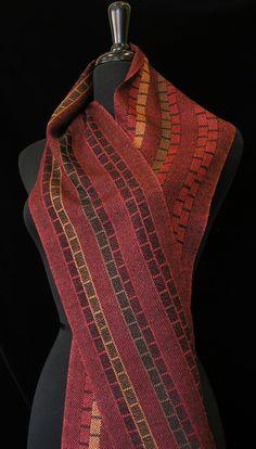 Handwoven scarf by Carol R Johnson. Photo by Aimee Radman