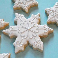 snow cookie. galletas de navidad