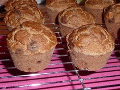 Pink-Vegan: CocoBanana Muffins (GF).  These are fluffy and moist, with the sweetness of chocolate chips.  They make a great breakfast or snack.
