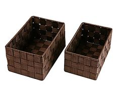 Set de 2 cajas de nailon - chocolate