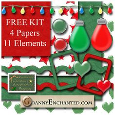 Christmas Freebie Kit ♥♥Join 2,470 people. Follow our Free Digital Scrapbook Board. New Freebies every day.♥♥