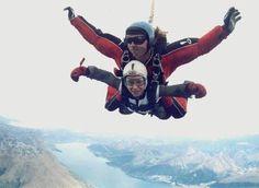 Skydiving over Queenstown NZ