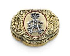 A GERMAN GOLD, GEM-SET, AND ENAMEL PRESENTATION SNUFF BOX MARK OF CHARLES COLINS SÖHNE, HANAU, CIRCA 1850
