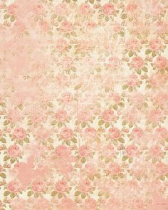 Beige à fleur rose style vintage