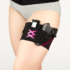 Can Can Concealment Micro Garter Holster - Garter Holster - Small Firearm - Girls and Guns - Girls who shoot - Women's Holster - Best Holster - Premier quality - Pink and black - Hot Pink - Love Pink - Concealed carry - Wedding Garter - Undercover - Thigh Holster - Lace garter - Elegant - Accessories - Concealment Holsters - Bond Girl - Boutique - Defense - Concealed Carry for women