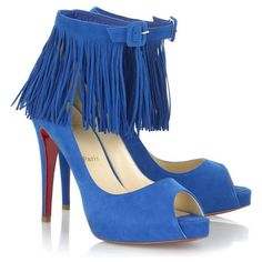 Christian Louboutin Pumps Pigalle Anemone Satin Blue $158.00 http ...