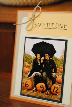 library card save the date / fall save the date.. no umbrella