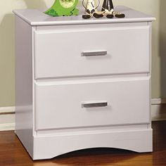 Furniture of America CM7941WH-N Prismo White Nightstand, 21
