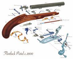 Flintlock Pistol - Mark Franklin Arts