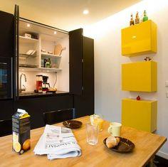 aamiaiskaappi Scandinavian Kitchen, Interior Decorating, Interior Design, Sweet Home, Dream Kitchens, Dining, Table, House, Interiors