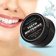 Sbiancamento dei denti Polvere di Carbone di Bambù Pulizia Igiene Orale Denti Placca di Rimozione del Tartaro Macchie Dente Bianco Polveri