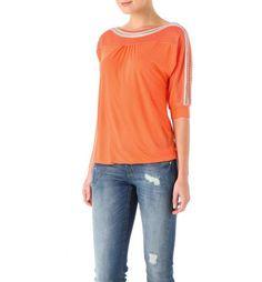 Damen-Shirt+aus+Materialmix