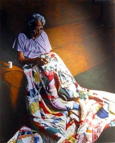 'Strong Steady Hands' - painting by Alonzo Adams