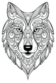 Insect Coloring Pages, Mandala Coloring Pages, Animal Coloring Pages, Coloring Book Pages, Coloring Pages For Kids, Mandala Drawing, Mandala Art, Mandala Wolf, Design Mandala