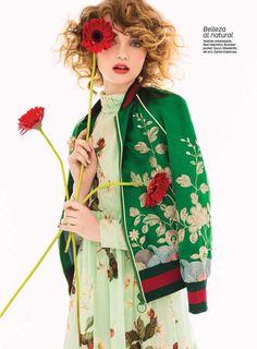 A florecer: Glamour Mexico & Latin America May 2016 by Fernando Gomez   - Gucci
